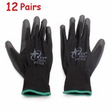 12Pairs XINGYU PU518 13Gauge Nylon Nitrile Anti-static Palm Coated Work Safety Gloves Large Size