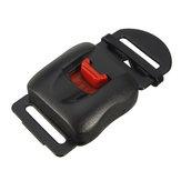 Clip boucle de libération rapide boucle de menton pour casque de moto noir rouge