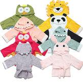 Bébé pyjamas de Nighty enfants bambin animaux serviette en peignoir de bande dessinée