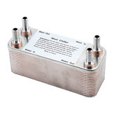 Original Plate Heat Exchanger Stainless Plate Wort Chiller With 1/2″ Barb Wine Making Tools