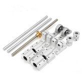 Machifit 15pcs 400mm CNC Pièces Opticales Axe Guide Palier du Logement d'Aluminum Axe de Rail Support des Vis Kit