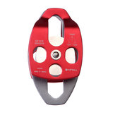 Original XINDA XD8613 Forged Aluminum Alloy 24KN Large Rescue Pulley Double Sheave Climbing Mountaineer Belay Rigging