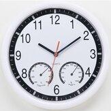 10 '' 10 Inch Pared moderna silenciosa Reloj con Termómetro e higrómetro para la cocina casera de la cocina casera