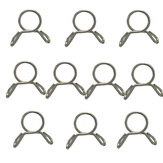 10pcs 7mm Fuel Line Hose Tubing Spring Clip Clamp Motorcycle Boat ATVs Scooter