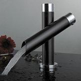 Único moderno Cuarto de baño Lavabo Grifo Sola manija Fregadero de la cocina Mezclador Grifo Cascada Grifo Negro
