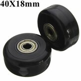2pcs 40mm Black Luggage Suitcase Replacement Rubber Wheel Roller Suitcase Repair Parts