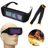 Zonne-aangedreven Auto Verduistering Lasmasker Helm Eyes Goggles Trekglazen