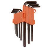 Original 9 piezas de llave hexagonal Allen herramientas Llave Set llave extra larga AllenTorque Sae Memtric Torx Spanner