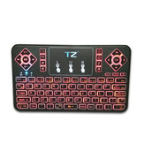 Q9 bluetooth Wireless 3 Colors Backlit Touchpad Air Mouse Mini Keyboard for Android TV Box Phone