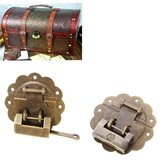 Jewelry Boxes Decorated Lock Ancient Antique Lock Horizontal Open Padlock   Buckle with Lace