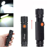Elfeland  T6 2000LM 3Modes Magnetic Tail Rechargeable Zoomable LED Flashlight