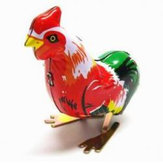 Vintage Clockwork Wind Up Cock Rooster Tin Toys Collectable Gift