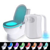 Loskii LK-U800 8 Color USB Charge Toilet Night Light Bathroom Motion Activated Sensor LED Toilet Seat Light