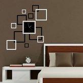 Honana DX-X4 Creative 3D Acrylic Mirror Wall Sticker Quartz Clocks Square Watch Large Home Decor