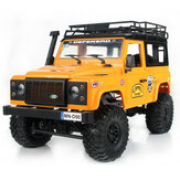 MN-90 1/12 2.4G 4WD Rc Car W / Front LED ضوء 2 Body Shell Roof Rack Crawler Monster Truck RTR Toy