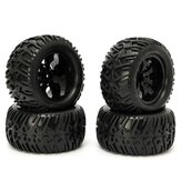 4PCS Wheel Rim & Tires HSP 1:10 Monster Truck RC Car 12mm Hub 88005