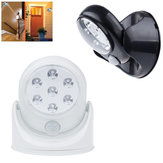 Battery Powered IR Motion Sensor LED Night Light 360 Degree Auto On/Off Wall Lamp for Hallway Yard