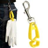 Guante de seguridad encargado clip de guardia de soporte para colocar las toallas de guantes gafas cascos