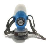 DEWBest 9588 Gas Azul Mascara Seguridad de Emergencia de Supervivencia Gas Respiratorio Mascara Anti Respirador de Pintura de Polvo Mascara con 2 Filtros de Protección Doble