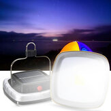 Portable 3W 300LM COB LED Solar Lantern USB Rechargeable Camping Tent Light Emergency Lamp