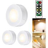 3pcs inalámbrico LED dormitorio de la luz de la noche pasillo escalera del gabinete Lámpara Control remoto