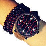 YAZOLE 323 Fashion Men Quartz Watch Casual Luminous Leather Strap Sport Watch