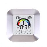 Household Touch Screen Digital Clock Temperature Humidity Display Alarm Outdoor Indoor Tester
