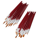 12Pcs Paint Brush Set For Oil Watercolor Acrylic Artist Painting Art Pen Craft Drawing Supplies