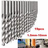 19st 1,5mm tot 10mm HSS Twist Drill Bit Set