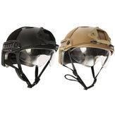 Táctica paintball airsoft swat juego de guerra casco protector rápida con gafas