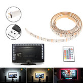 1M SMD5050 USB Waterproof RGB 30 LED  Bar Strip Light TV Computer Background Lighting DC5V