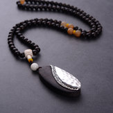 Original Unisex Ethnic Handmade Sandalwood Long Pendant Necklaces