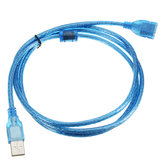 5FT 1.5m Clear Blue USB 2.0 Extension Male to Female Connector Cable