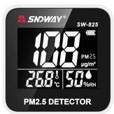 SNDWAYSW-825Moniteurdelaqualité de l'air numérique Laser PM2.5 Détecteur Moniteur de température du gaz Humidité Analyseur Outil de diagnostic des soins de santé