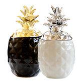 Empty Jar Ceramic Chic Pineapple Tea Coffee Sugar Jars Storage Canisters Home Decor