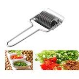 1UnidsAceroInoxidableCebollaChopper Slicer Ajo Cortador de Cilantro Cocinar herramientas Rebanar herramienta Accesorios de Cocina Gadgets Cortador de Verduras
