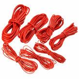 DANIU Câble 5 Mètre en Fil de Silicone Rouge Câble Flexible 10/12/14/16/18/20 / 22AWG Flexible