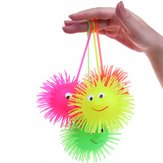 Smiling Face Flashing Elasticity Spike Ball Bounce Light Stress Relievers