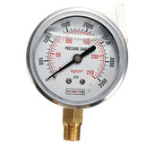 Hydraulic Liquid Filled Pressure Gauge 0-3500 PSI