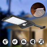 Solar Powered 36 LED PIR Motion Sensor Impermeable Street Light Light Wall Lámpara para al aire libre jardín