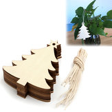 Christmas Party Home Decoration 10PCS Wooden Pentagram Tree Ornament Toys For Kids Children Gift