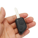 2 Buttons Remote Key Case Fob Shell Uncut Replacement For Peugeot 106 205 206 306 405 406