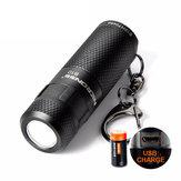 Nicron B10 XP-E2 R3 200LM 5Modes Dimming USB Rechargeable Mini Keychain EDC LED Flashlight