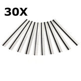 30 Pcs 40 Pin 2.54mm Single Row Male Pin Header Strip For Arduino Prototype Shield DIY