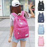 Women Canvas Floral Backpack Casual Shoulder Bag Travel Laptop School Bag Rucksack