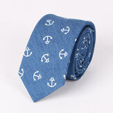 Mens Washed Denim Printing Ties