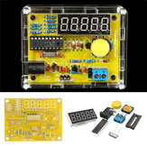 Geekcreit® DIY Medidor de Frecuencia 1Hz-50MHz Probador de Contador de Cristal con Kit de Cubierta