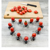Honana 12pcs Cute Ant Fruit Fork DIY Novelty Eco-friendly Plastic Desserts Snack Cake Decorative Forks Reusable Fruit Salad Sticks Home Decor