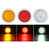 24 LEDs 10-30V Waterproof Indicator Stop Rear Tail Light For Motorcycle Car ATV Boats