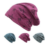 Hommes Femmes Bonnets en tricot en coton Hat Star Printed Winter Warm Soft Caps